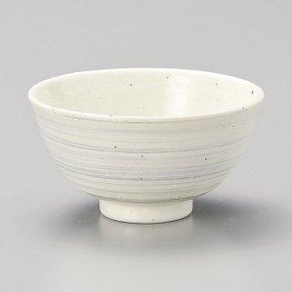 渦粉引グレー中平 和食器 飯碗 業務用 約11.2cm 和食 和風 茶碗 ご飯茶碗 一般 標準