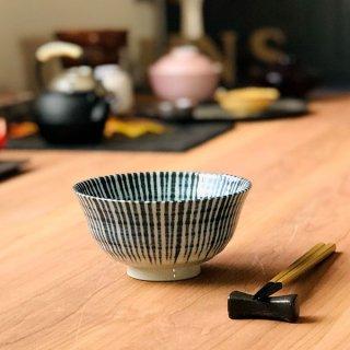 藍十草茶漬碗 和食器 飯碗 業務用 約14cm 和食 和風 茶碗 ご飯茶碗