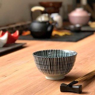 藍十草飯碗 和食器 飯碗 業務用 約11.4cm 和食 和風 茶碗 ご飯茶碗