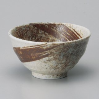 志野サビ刷毛飯碗大 和食器 飯碗 業務用 約12cm 和食 和風 茶碗 ご飯茶碗
