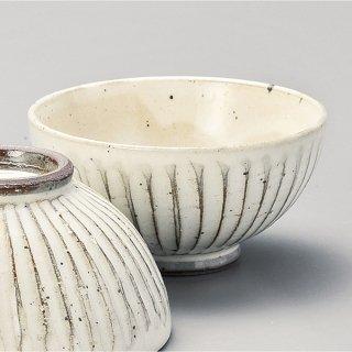 粉引ソギ目小平 和食器 飯碗 業務用 約10.8cm 和食 和風 茶碗 ご飯茶碗 女性用 子供用