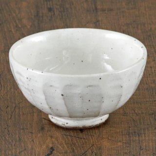 粉引面取り大平 和食器 飯碗 業務用 約12.3cm 和食 和風 茶碗 ご飯茶碗 男性用