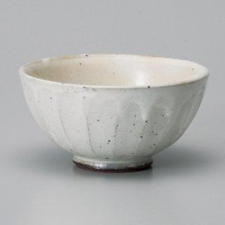 粉引面取り中平 和食器 飯碗 業務用 約11.4cm 和食 和風 茶碗 ご飯茶碗 一般 標準