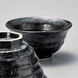 瀬戸黒ろくべ型茶碗 小 和食器 飯碗 業務用 約11.7cm 和食 和風 茶碗 ご飯茶碗