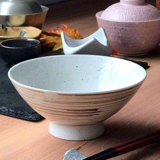 錆刷毛目梨地のり茶 和食器 ライス丼・茶漬 業務用 約15cm 和食 和風 ご飯茶碗 どんぶり 小料理屋 料亭 ひつまぶし