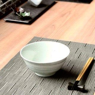 渦粉引グレー茶漬碗 和食器 ライス丼・茶漬 業務用 約15cm 和食 和風 ご飯茶碗 どんぶり 小料理屋 料亭 ひつまぶし