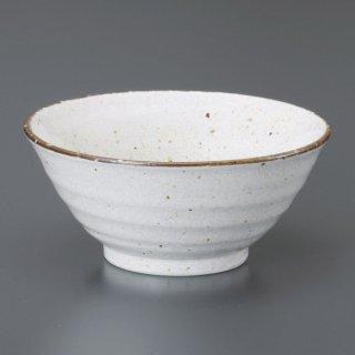 白唐津手引4.8反和丼 和食器 ライス丼・茶漬 業務用 約14.7cm 和食 和風 ご飯茶碗 どんぶり 小料理屋 料亭