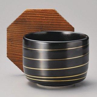 金筋ゆず黒飯器蓋付 和食器 飯器 業務用 約10.6cm 和食 和風 白米飯 炊き込みご飯