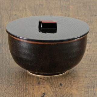 天目多用鉢 P蓋付 和食器 飯器 業務用 約13cm 和食 和風 白米飯 炊き込みご飯