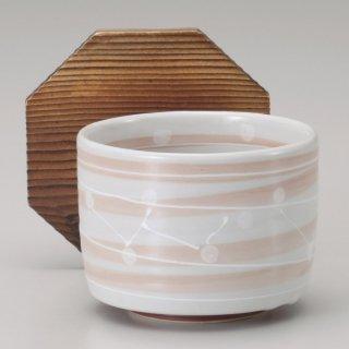 一珍萩色うずお好み碗 木蓋付 和食器 飯器 業務用 約11cm 和食 和風 白米飯 炊き込みご飯