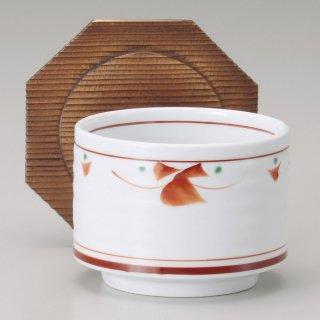 赤紅小花飯器蓋付 大 和食器 飯器 業務用 約11cm 和食 和風 白米飯 炊き込みご飯