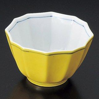 黄釉十二角小鉢 和食器 小鉢(小) 業務用 約10cm 和食 和風 鉢 高級 料亭 旬菜 煮物 酢の物 和え物 おひたし デザート