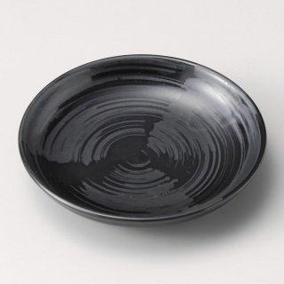 風車 黒 12.5cm皿 和食器 フルーツ皿・銘々皿・取皿 業務用 約12.4cm 和食 和風 プレート フルーツ デザート 和菓子 甘味 ケーキ 和テイスト 定番 取り皿