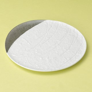 白結晶プラチナ満月皿 和食器 フルーツ皿・銘々皿・取皿 業務用 約17.5cm 和食 和風 プレート フルーツ デザート 和菓子 甘味 ケーキ 和テイスト 定番 取り皿