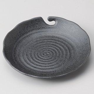 黒結晶串ヌキ取皿 和食器 フルーツ皿・銘々皿・取皿 業務用 約16.4cm 和食 和風 プレート フルーツ デザート 和菓子 甘味 ケーキ 和テイスト 定番 取り皿
