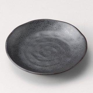 いぶし鉄黒5.0皿 和食器 フルーツ皿・銘々皿・取皿 業務用 約16.7cm 和食 和風 プレート フルーツ デザート 和菓子 甘味 ケーキ 和テイスト 定番 取り皿