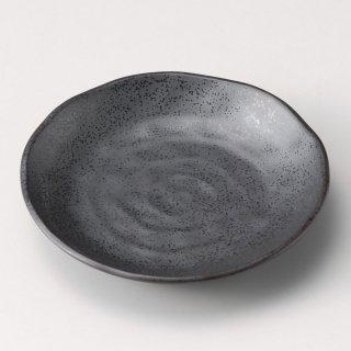 いぶし鉄黒4.0皿 和食器 フルーツ皿・銘々皿・取皿 業務用 約14cm 和食 和風 プレート フルーツ デザート 和菓子 甘味 ケーキ 和テイスト 定番 取り皿