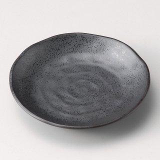 いぶし鉄黒3.5皿 和食器 フルーツ皿・銘々皿・取皿 業務用 約12cm 和食 和風 プレート フルーツ デザート 和菓子 甘味 ケーキ 和テイスト 定番 取り皿