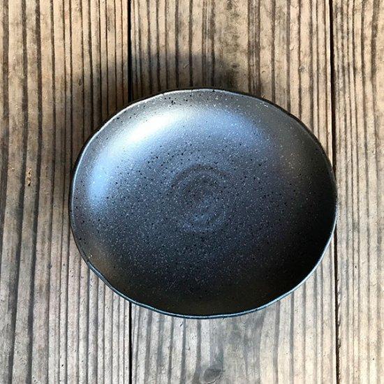 黒楕円皿 小 和食器 フルーツ皿・銘々皿・取皿 業務用 約13.2cm 和食 和風 プレート フルーツ デザート 和菓子 甘味 ケーキ 和テイスト 定番 取り皿