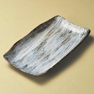白刷毛ホッケ皿 和食器 長角皿 業務用 約30cm 和食 和風 串物 ホッケ皿 揚げ物