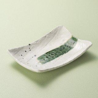 いなか道手作り長角皿 大 和食器 長角皿 業務用 約26.5cm 和食 和風 串物 ホッケ皿 揚げ物