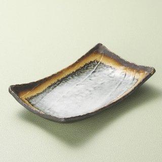 あかね手作り長角皿 大 和食器 長角皿 業務用 約27cm 和食 和風 串物 ホッケ皿 揚げ物
