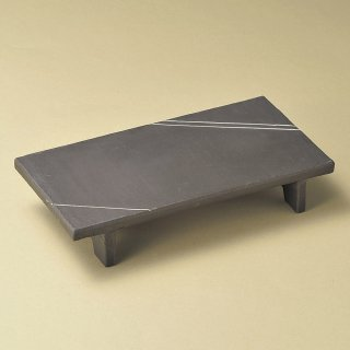 炭化土マナ板9.0皿 和食器 長角皿 業務用 約29cm 和食 和風 串物 ホッケ皿 揚げ物