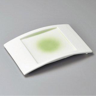 ヒワ弓形前菜皿 和食器 長角皿 業務用 約25.5cm 和食 和風 串物 ホッケ皿 揚げ物