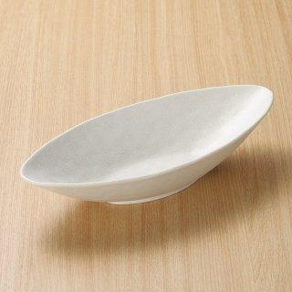 白水晶舟型カレー鉢 和食器 盛鉢 業務用 約30.5cm 和食 和風 鉢 大鉢 サラダ 揚げ物 煮物 ボウル 創作料理 ボール 人気 定番