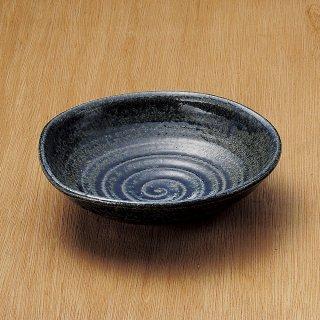 紺ビードロ7.0平鉢 和食器 盛鉢 業務用 約21.2cm 和食 和風 鉢 大鉢 サラダ 揚げ物 煮物 ボウル 創作料理 ボール 人気 定番