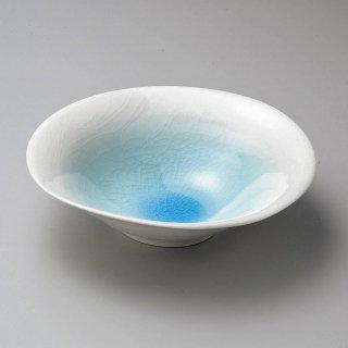 ブルーたわみ鉢 大 和食器 盛鉢 業務用 約24cm 和食 和風 鉢 大鉢 サラダ 揚げ物 煮物 ボウル 創作料理 ボール 人気 定番
