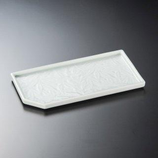 青磁笹長角皿 和食器 松花堂パーツ 業務用 約22.6cm 和食 和風 御膳 旅館 和食レストラン 小料理屋 刺身 天ぷら 煮物 酢の物 和え物