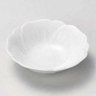 白磁椿深皿 白い器 和食器 松花堂パーツ 業務用 約11.2cm 和食 和風 御膳 旅館 和食レストラン 小料理屋 刺身 天ぷら 煮物 酢の物 和え物