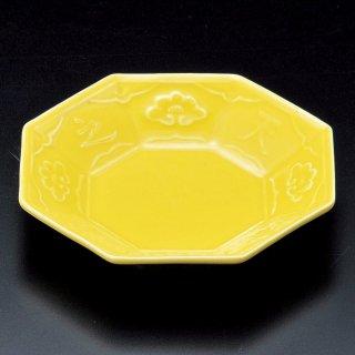 黄釉八角皿 和食器 松花堂パーツ 業務用 約12cm 和食 和風 御膳 旅館 和食レストラン 小料理屋 刺身 天ぷら 煮物 酢の物 和え物