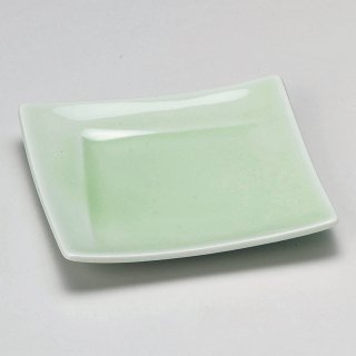 もえぎ角皿 和食器 松花堂パーツ 業務用 約11.2cm 和食 和風 御膳 旅館 和食レストラン 小料理屋 刺身 天ぷら 煮物 酢の物 和え物