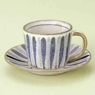 染付十草切立コーヒー碗皿 和食器 コーヒー碗・受皿 業務用 和風 来客用 マイカップ 和モダン おしゃれ