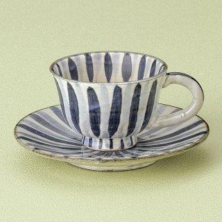 染付十草コーヒー碗皿 和食器 コーヒー碗・受皿 業務用 和風 来客用 マイカップ 和モダン おしゃれ