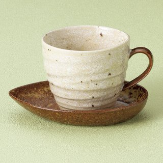 流砂丘アメリカン碗皿 和食器 コーヒー碗・受皿 業務用 和風 来客用 マイカップ 和モダン おしゃれ