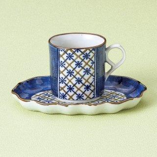 割格子コーヒー碗皿 和食器 コーヒー碗・受皿 業務用 和風 来客用 マイカップ 和モダン おしゃれ