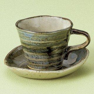 窯変ゴスさざ波コーヒー碗皿 和食器 コーヒー碗・受皿 業務用 和風 来客用 マイカップ 和モダン おしゃれ