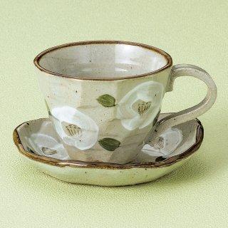 白椿コーヒーC/S 和食器 コーヒー碗・受皿 業務用 和風 来客用 マイカップ 和モダン おしゃれ