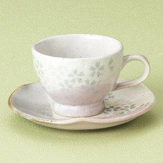 吉野桜コーヒー碗皿 和食器 コーヒー碗・受皿 業務用 和風 来客用 マイカップ 和モダン おしゃれ