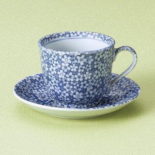 古染桜コーヒー碗皿 和食器 コーヒー碗・受皿 業務用 和風 来客用 マイカップ 和モダン おしゃれ