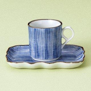 細十草コーヒー碗皿 和食器 コーヒー碗・受皿 業務用 和風 来客用 マイカップ 和モダン おしゃれ