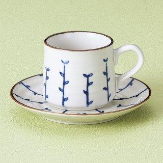 芽生え青コーヒー碗皿 和食器 コーヒー碗・受皿 業務用 和風 来客用 マイカップ 和モダン おしゃれ
