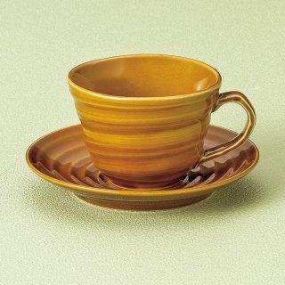 飴ブランカコーヒー碗皿 和食器 コーヒー碗・受皿 業務用 和風 来客用 マイカップ 和モダン おしゃれ