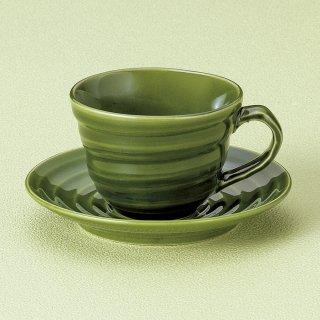 織部ブランカコーヒー碗皿 和食器 コーヒー碗・受皿 業務用 和風 来客用 マイカップ 和モダン おしゃれ