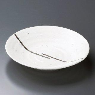白雲7.5皿 和食器 麺皿・麺鉢 業務用 約23.5cm 和食 和風 麺ボウル 冷やし中華 つけ麺 うどん屋 ざるらーめん ざるそば 和食レストラン ざるうどん めん鉢 めん皿