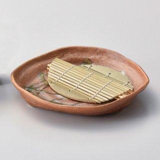 伊賀オリベ和皿 和食器 麺皿・麺鉢 業務用 約21.3cm 和食 和風 麺ボウル 冷やし中華 つけ麺 うどん屋 ざるらーめん ざるそば 和食レストラン ざるうどん めん鉢 めん皿