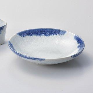 藍雪麺皿 和食器 麺皿・麺鉢 業務用 約23.5cm 和食 和風 麺ボウル 冷やし中華 つけ麺 うどん屋 ざるらーめん ざるそば 和食レストラン ざるうどん めん鉢 めん皿